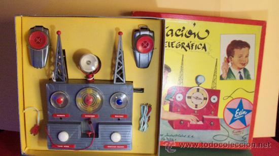 Juguetes antiguos Exin: Exin Juguete.Juego Exin. Estación Radiotelegráfica. Dibujos de Sabatés. - Foto 5 - 34354909