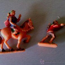 Giocattoli antichi Exin: DOS FIGURAS DE EXIN CASTILLOS AÑOS 70. Lote 36751080