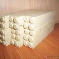 Brinquedos antigos Exin: EXIN CASTILLOS: LOTE DE 150 PIEZAS TODAS ELLAS DE LADRILLOS DOBLES. Lote 206534050