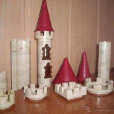 Brinquedos antigos Exin: EXIN CASTILLOS: VARIADO LOTE DE 50 PIEZAS . Lote 116308736