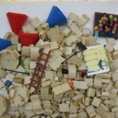 Juguetes antiguos Exin: LOTE DE 400 PIEZAS PARA LA CONSTRUCCIÓN DE CASTILLOS - CROSSWISE.. Lote 44355805