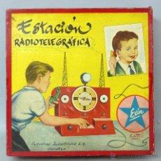 Juguetes antiguos Exin - Estación Radiotelegráfica Exin Dibujo tapa Sabatés años 50 No funciona - 45169278