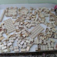 Brinquedos antigos Exin: LOTE DE 165 PIEZAS VARIADAS EXIN CASTILLOS ORIGINAL AÑOS 70 80 ACCESORIOS DE CONSTRUCCION. Lote 45258350