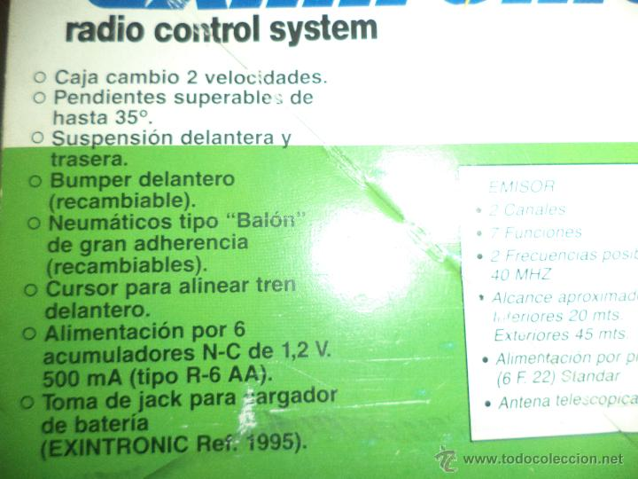 Juguetes antiguos Exin: EXIN / Coche buggy a radiocontrol Exintronic Wild Champ.Escala 1/15. - Foto 8 - 50595248