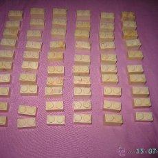 Juguetes antiguos Exin: LOTE DE 50 LADRILLOS DE EXIN CASTILLOS DE PDJ.. Lote 50952716