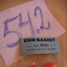 Juguetes antiguos Exin: PAR BALONES EXIN BASKET NUEVOS EN SU BLISTER. Lote 53019005