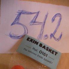 Juguetes antiguos Exin: PAR BALONES EXIN BASKET NUEVOS EN SU BLISTER. Lote 53019010
