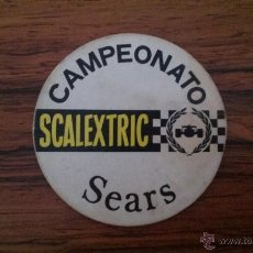 Juguetes antiguos Exin: INSIGNIA CAMPEONATO SCALEXTRIC SEARS. Lote 53113866