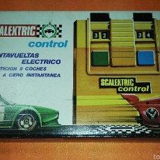 Juguetes antiguos Exin: CUENTAVUELTAS ELECTRICO SCALEXTRIC. Lote 53815943