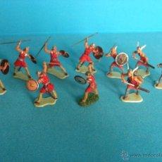 Juguetes antiguos Exin: LOTE FIGURAS ELASTOLIN HISTOREX 40 MM VIKINGOS EXIN CASTILLOS. Lote 54063738