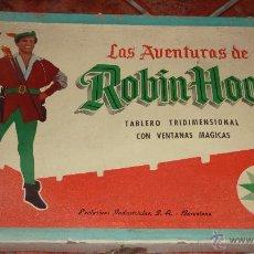 Juguetes antiguos Exin: ANTIGUO JUEGO DE MESA LA AVENTURAS DE ROBIN HOOD . TABLERO TRIDIMENSIONAL . MARCA EXIN CON CAJA. Lote 54064836