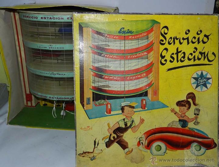 Juguetes antiguos Exin: ESTACION DE SERVICIO DE EXIN, DIBUJOS DE SABATES, CON LUZ Y MOVIMIENTO DE ASCENSOR, FUNCIONA CORRECT - Foto 2 - 137682240