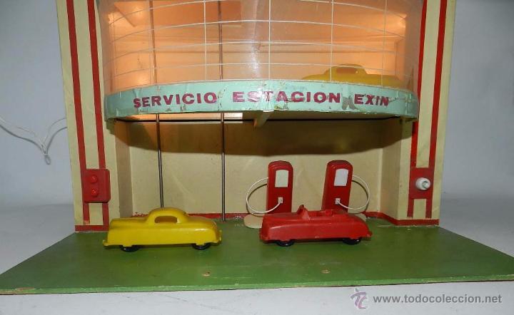 Juguetes antiguos Exin: ESTACION DE SERVICIO DE EXIN, DIBUJOS DE SABATES, CON LUZ Y MOVIMIENTO DE ASCENSOR, FUNCIONA CORRECT - Foto 7 - 137682240