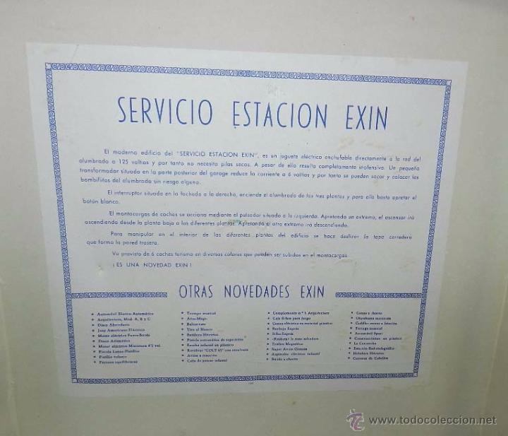Juguetes antiguos Exin: ESTACION DE SERVICIO DE EXIN, DIBUJOS DE SABATES, CON LUZ Y MOVIMIENTO DE ASCENSOR, FUNCIONA CORRECT - Foto 8 - 137682240