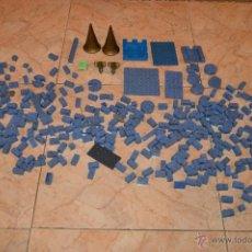 Juguetes antiguos Exin: LOTE DE EXIN CASTILLOS 290 PIEZAS AZULES PFS. Lote 54874972