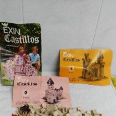 Juguetes antiguos Exin: EXIN CASTILLOS ANTIGUOS, LOTE DE UNAS 165 PIEZAS Y 3 DIFICILISIMOS CATALOGOS. Lote 55915655