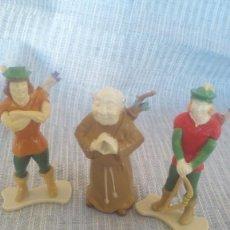 Juguetes antiguos Exin: TRES MUÑECO DE EXIN CASTILLOS ROBIN HOOD Y COMPAÑEROS. Lote 243343220