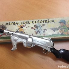 Juguetes antiguos Exin: METRALLETA ELECTRICA DE EXIN CON SU CAJA ORIGINAL FUNCIONA CORRECTAMETE VER VIDEO . Lote 67414045
