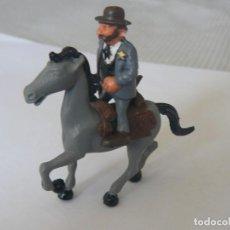 Juguetes antiguos Exin: SHERIFF A CABALLO PINTADO ORIGINAL DE EXIN WEST. Lote 75667163