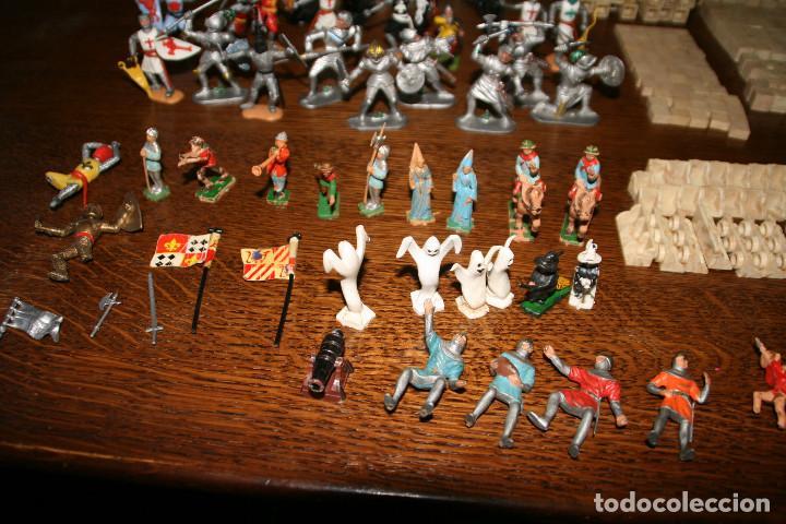Juguetes antiguos Exin: Gran lote exin castillos - castillo - 45 figuras + 2089 piezas - Foto 4 - 86157396