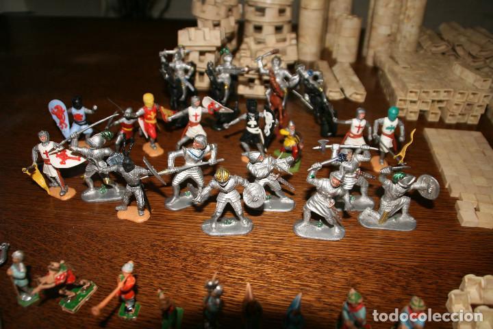 Juguetes antiguos Exin: Gran lote exin castillos - castillo - 45 figuras + 2089 piezas - Foto 5 - 86157396