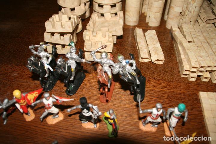Juguetes antiguos Exin: Gran lote exin castillos - castillo - 45 figuras + 2089 piezas - Foto 6 - 86157396