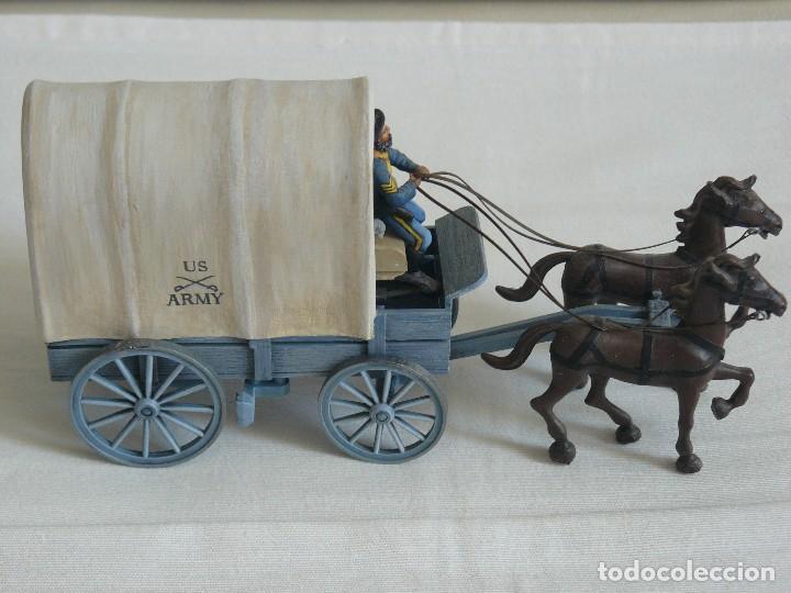 Juguetes antiguos Exin: CARRETA MILITAR EXIN WEST PINTADA EN ALTA CALIDAD - Foto 2 - 89577932