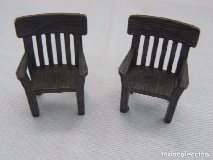 Mesa con 2 sillas originales de exin west pinta comprar juguetes antiguos marca exin en - Sillas originales ...