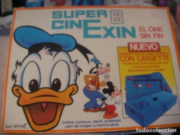 SUPER CINE EXIN CON TRES PELICULAS (Juguetes - Marcas Clásicas - Exin)