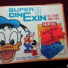 Juguetes antiguos Exin: CINEXIN SUPER 8 LOS PITUFOS Y DONALD REF 800. Lote 98134294