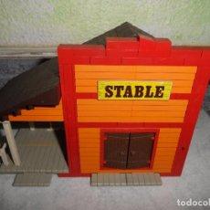 Juguetes antiguos Exin: EXIN WEST - ESTABLO - STABLE. Lote 101146139