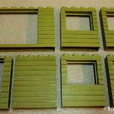 Juguetes antiguos Exin: LOTE EXIN WEST, PIEZAS VERDES, PARED, ORIGINAL 1970S. Lote 107093087