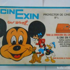 Juguetes antiguos Exin: PROYECTOR DE CINE EXIN CINEXIN NARANJA. 8 MM. PELICULAS WALT DISNEY. PB37. Lote 107670523