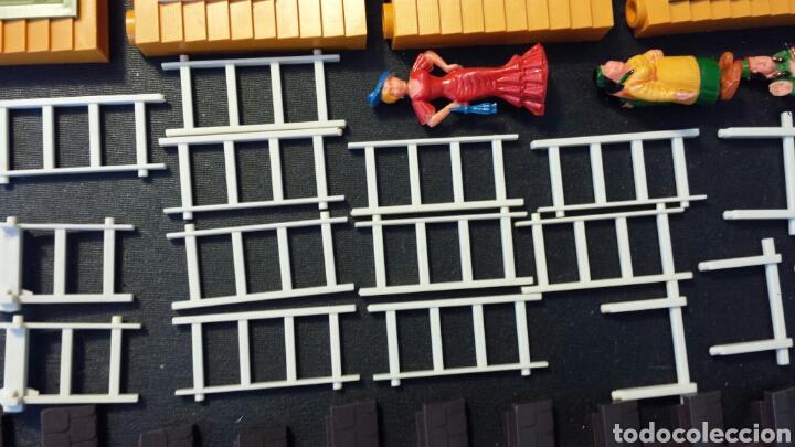 Juguetes antiguos Exin: Enorme lote piezas Exin West con figuras como Exin Castillos - Foto 18 - 109264932