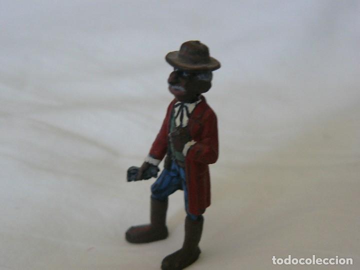 Juguetes antiguos Exin: EXIN WEST NEGRO LIBERTO CON GUANTES PINTADO EN ALTA CALIDAD - Foto 3 - 109540907