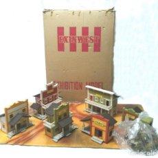 Poblado Exin West Modelo Exhibición Tiendas, nuevo nunco jugado completo, con todas sus cajas