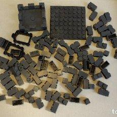 Brinquedos antigos Exin: LOTE DE FICHAS EXIN CASTILLOS 105 PIEZAS VARIADAS POPULAR DE JUGUETES COLOR GRIS AZULADO. Lote 113987931