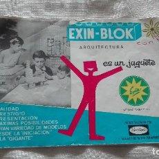 Juguetes antiguos Exin: EXIN BLOK ARQUITECTURA LIBRILLO CATALOGO. Lote 114865079