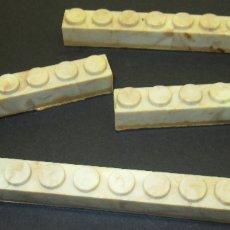 Juguetes antiguos Exin: EXIN CASTILLOS ORIGINAL AÑOS 70 LOTE 4 VIGAS DE 8 PUNTOS. Lote 117943116