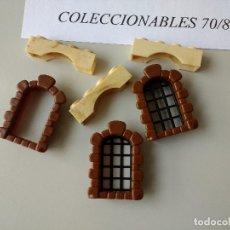 Brinquedos antigos Exin: EXIN CASTILLOS POPULAR DE JUGUETES VENTANAS PIEZAS CONSTRUCCIÓN CASTILLO MEDIEVAL. Lote 120498411
