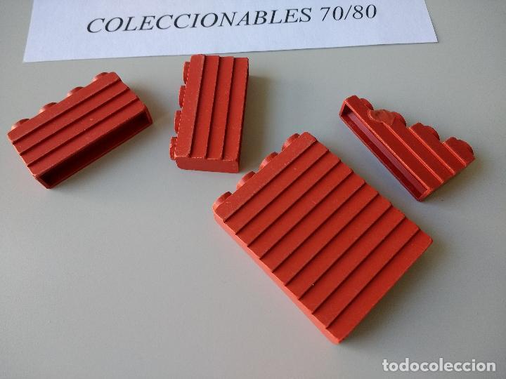 ACCESORIOS EXIN WEST ORIGINAL AÑOS 70 PIEZAS PARED ROJAS DE CONSTRUCCION (Juguetes - Marcas Clásicas - Exin)
