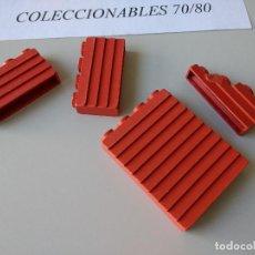 Juguetes antiguos Exin: ACCESORIOS EXIN WEST ORIGINAL AÑOS 70 PIEZAS PARED ROJAS DE CONSTRUCCION. Lote 253427900
