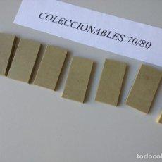 Juguetes antiguos Exin: ACCESORIOS EXIN WEST TECHO TEJADO ORIGINAL AÑOS 70 PIEZAS LISAS DE CONSTRUCCION. Lote 269731323
