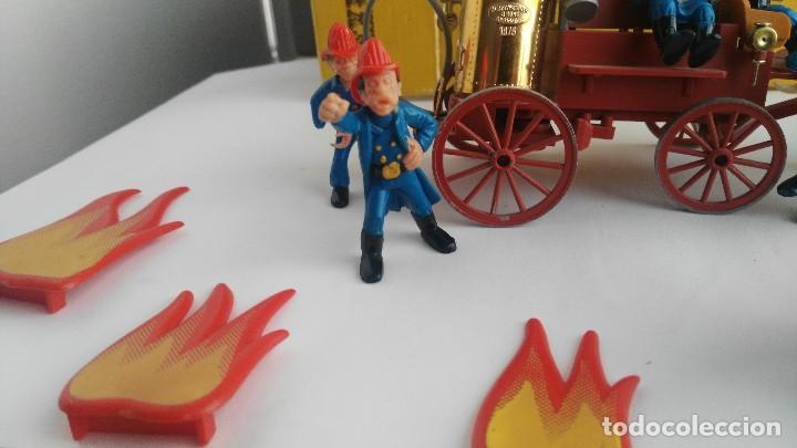 Juguetes antiguos Exin: parque de bomberos EXIN WEST EXINWEST COCHE DE BOMBEROS PERSONAJES Y MAS EN CAJA - Foto 6 - 121982847