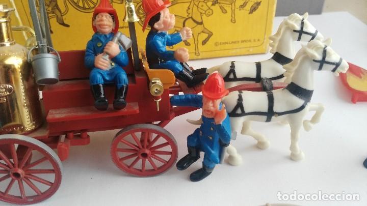 Juguetes antiguos Exin: parque de bomberos EXIN WEST EXINWEST COCHE DE BOMBEROS PERSONAJES Y MAS EN CAJA - Foto 9 - 121982847