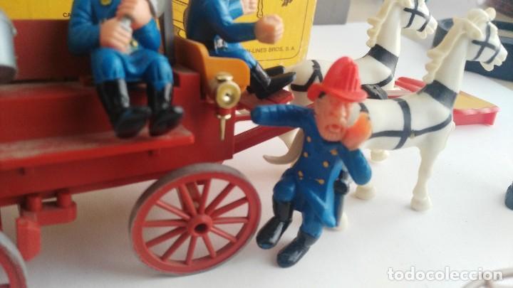 Juguetes antiguos Exin: parque de bomberos EXIN WEST EXINWEST COCHE DE BOMBEROS PERSONAJES Y MAS EN CAJA - Foto 10 - 121982847