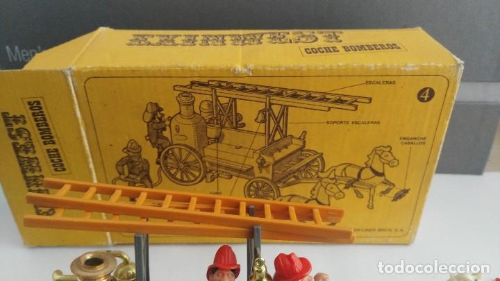 Juguetes antiguos Exin: parque de bomberos EXIN WEST EXINWEST COCHE DE BOMBEROS PERSONAJES Y MAS EN CAJA - Foto 14 - 121982847
