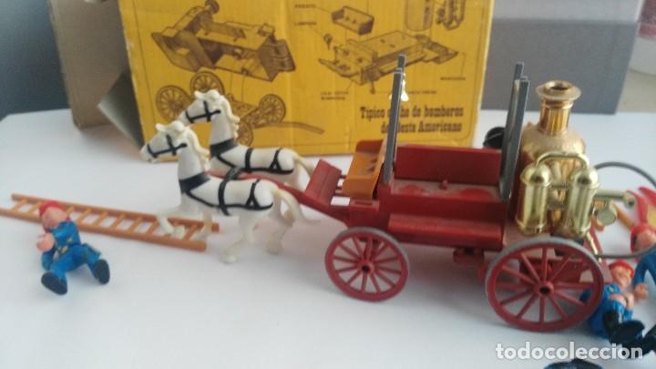 Juguetes antiguos Exin: parque de bomberos EXIN WEST EXINWEST COCHE DE BOMBEROS PERSONAJES Y MAS EN CAJA - Foto 17 - 121982847