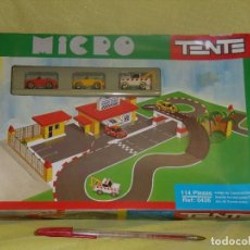 Juguetes antiguos Exin: MICRO TENTE DE EXIN, PARKING GARAJE, REF 0426, 114 PIEZAS, AÑO 1990, NUEVO SIN ABRIR.. Lote 122243951