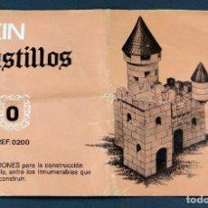 Juguetes antiguos Exin: CATÁLOGO EXIN CASTILLOS INSTRUCCIONES CAJA 0 REF 0200. Lote 123354303